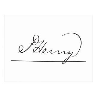 La firma americana de Patrick Henry del fundador Postal