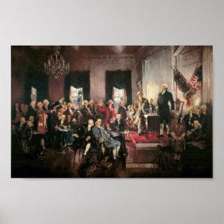 La firma de la constitución póster
