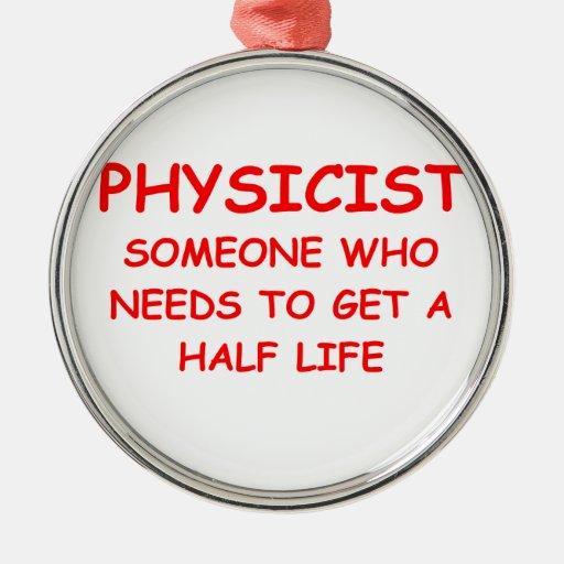 la física adorno de navidad