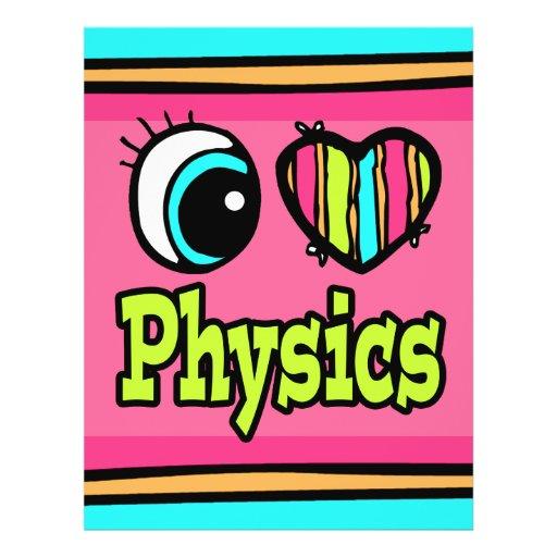 La física brillante del amor del corazón I del ojo Tarjeton