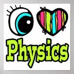 La física brillante del amor del corazón I del ojo Posters