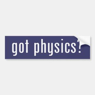 ¿la física conseguida? pegatina para auto