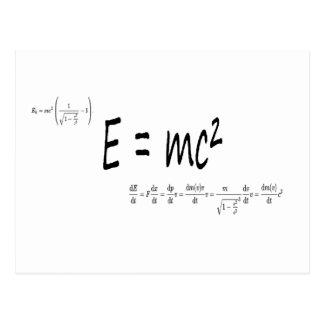 La física de la fórmula E=mc2, teoría de Tarjeta Postal