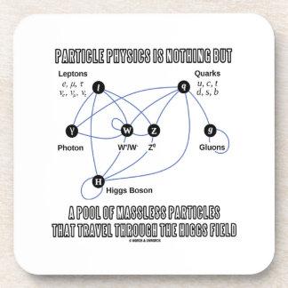 La física de partícula no es nada sino una piscina posavaso