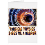 La física de partícula tarjeta de felicitación