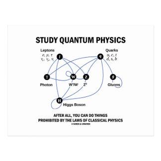 La física de Quantum del estudio después de todos Postal