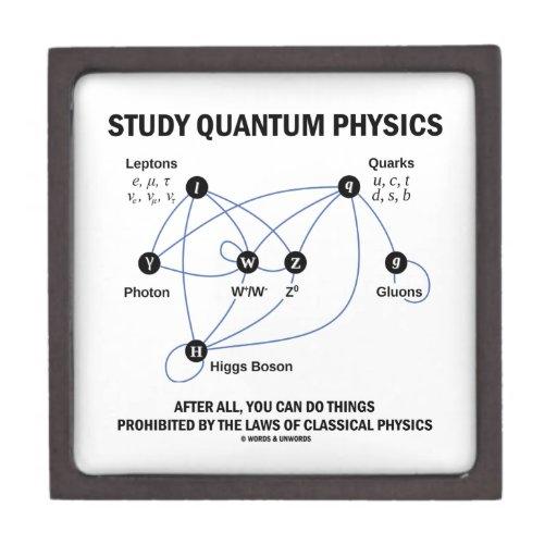 La física de Quantum del estudio usted puede hacer Cajas De Joyas De Calidad