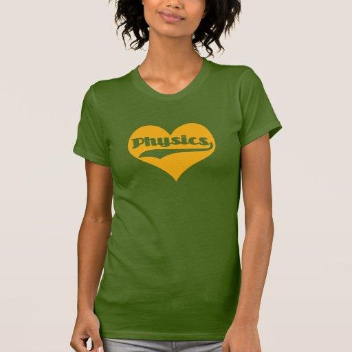 La física del amor camisetas