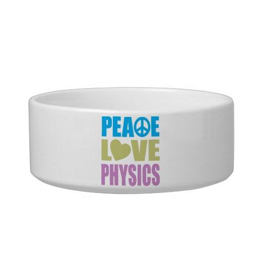 La física del amor de la paz comedero para mascota