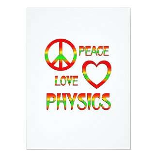"""La física del amor de la paz invitación 5.5"""" x 7.5"""""""