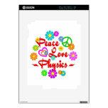 La física del amor de la paz iPad 2 calcomanía
