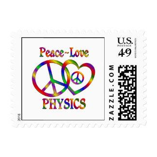 La física del amor de la paz franqueo