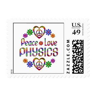 La física del amor de la paz sellos