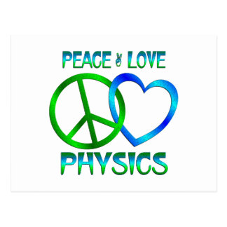 La FÍSICA del amor de la paz Tarjetas Postales