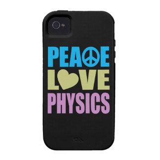 La física del amor de la paz vibe iPhone 4 carcasa
