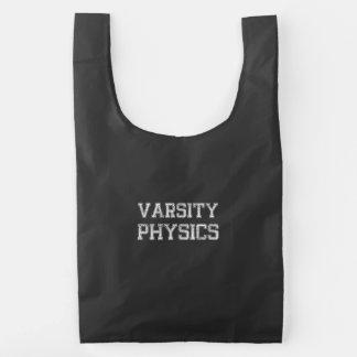 La física del equipo universitario bolsa reutilizable