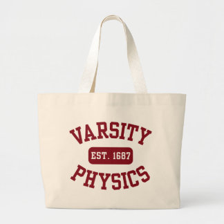 La física del equipo universitario bolsa tela grande