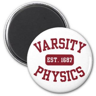 La física del equipo universitario imán redondo 5 cm