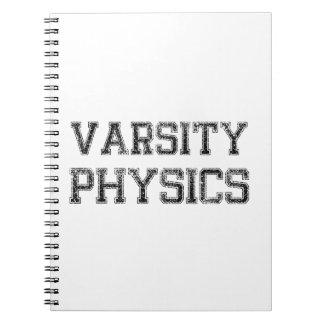 La física del equipo universitario libretas