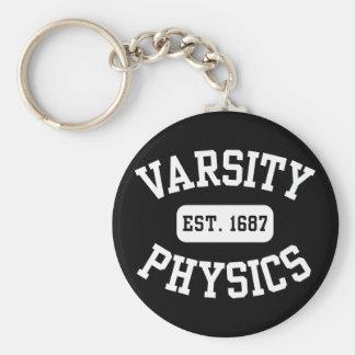 La física del equipo universitario llavero redondo tipo pin