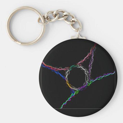 La física del Wormhole Llavero Redondo Tipo Pin