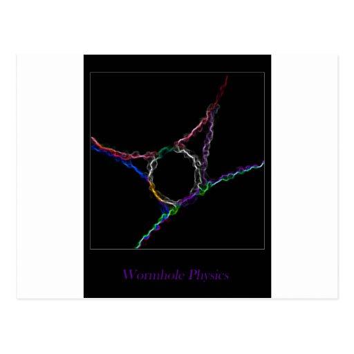 La física del Wormhole Tarjetas Postales