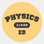 La física Ed Pegatina Redonda