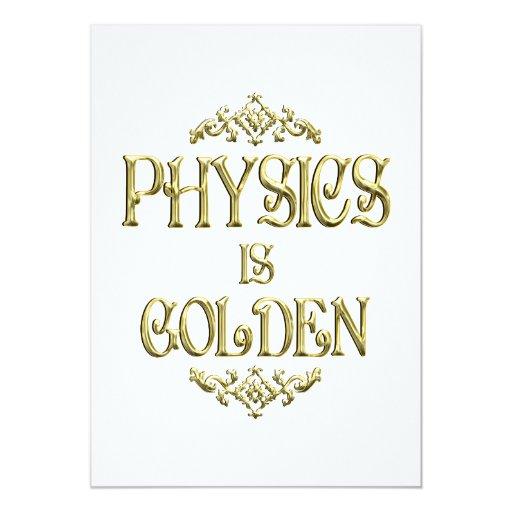 La FÍSICA es de oro Invitación 12,7 X 17,8 Cm