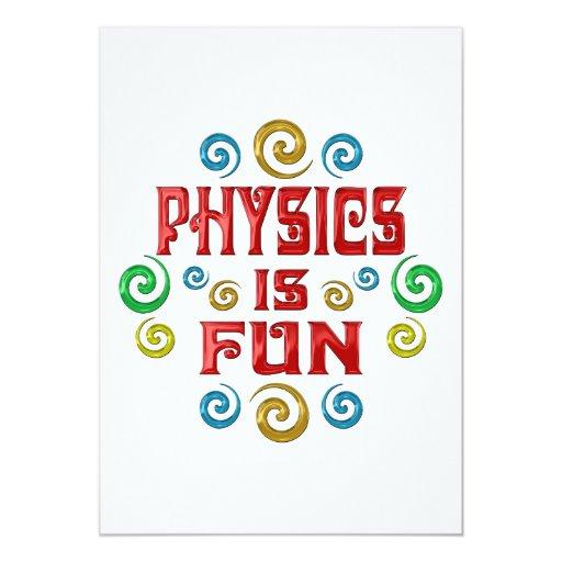"""La física es DIVERSIÓN Invitación 5"""" X 7"""""""