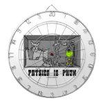 La física es experimento del gato de Phun (diversi Tabla Dardos