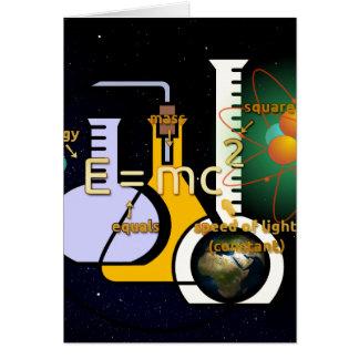 La física es fresca tarjeta pequeña