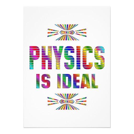 La física es ideal comunicado personalizado