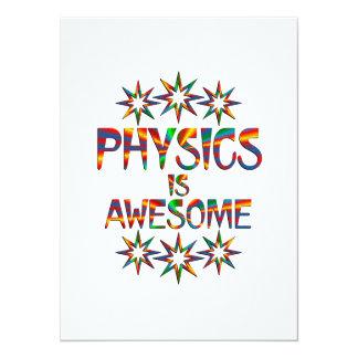 """La física es impresionante invitación 5.5"""" x 7.5"""""""
