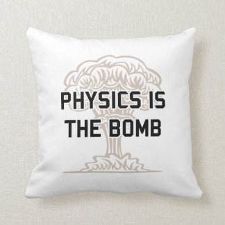 La física es la bomba nuclear cojin
