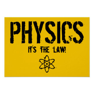 ¡La física - es la ley! Póster