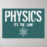 ¡La física - es la ley! Poster