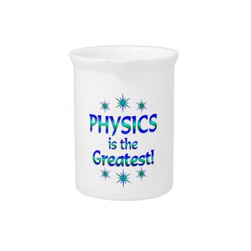 La física es la más grande jarra de beber