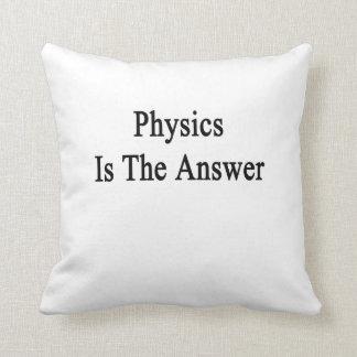 La física es la respuesta cojín