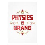La física es magnífica invitacion personalizada