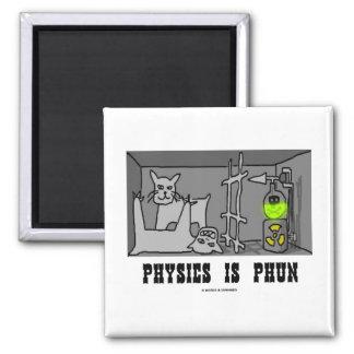 La física es Phun (diversión) (el gato de Schrödin Iman Para Frigorífico