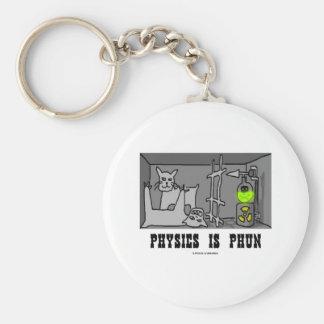 La física es Phun (diversión) (el gato de Schrödin Llavero Personalizado