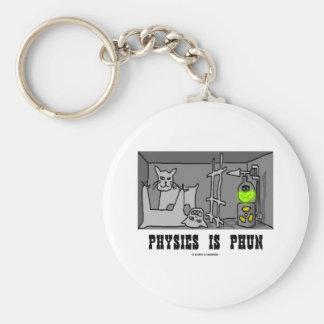 La física es Phun (diversión) (el gato de Schrödin Llavero