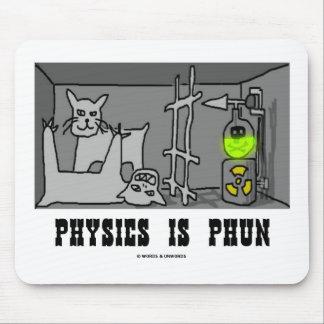 La física es Phun (diversión) (el gato de Schrödin Alfombrillas De Ratones