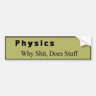 la física etiqueta de parachoque