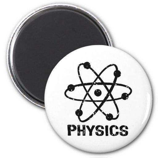 La física imán de frigorífico