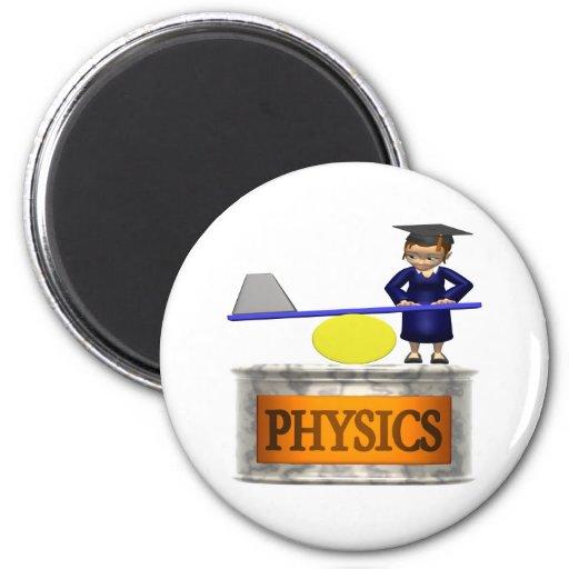 La física imanes de nevera