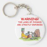 la física llaveros