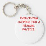 la física llaveros personalizados