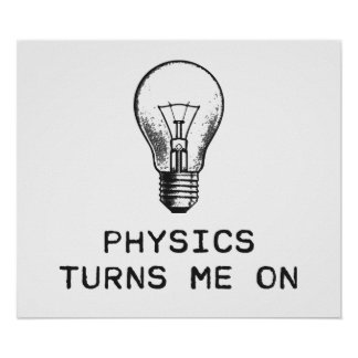 La física me gira póster