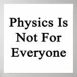 La física no está para cada uno posters